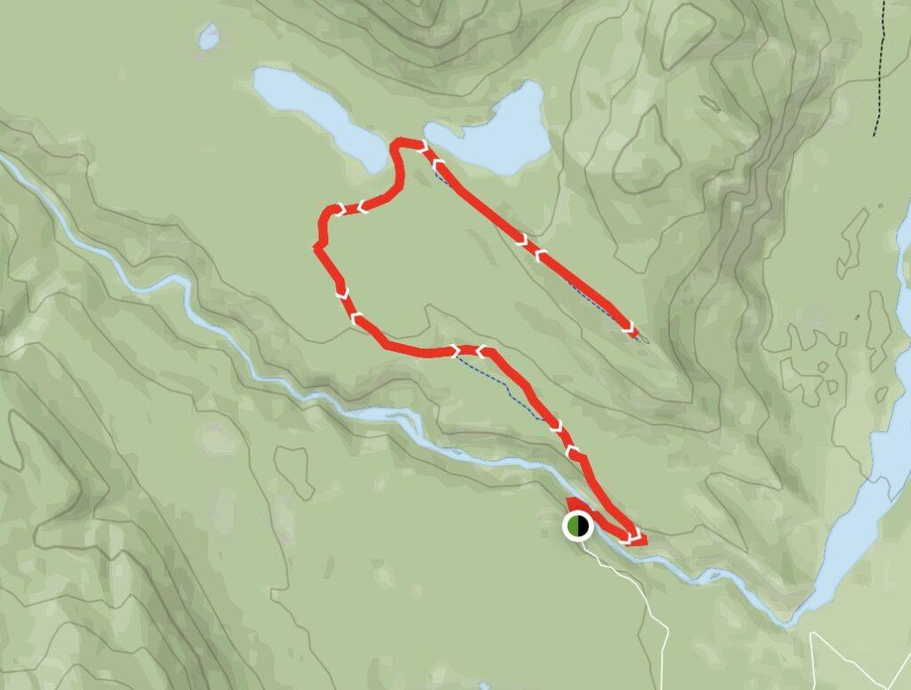Devona Lookout and Celestine Lake Map