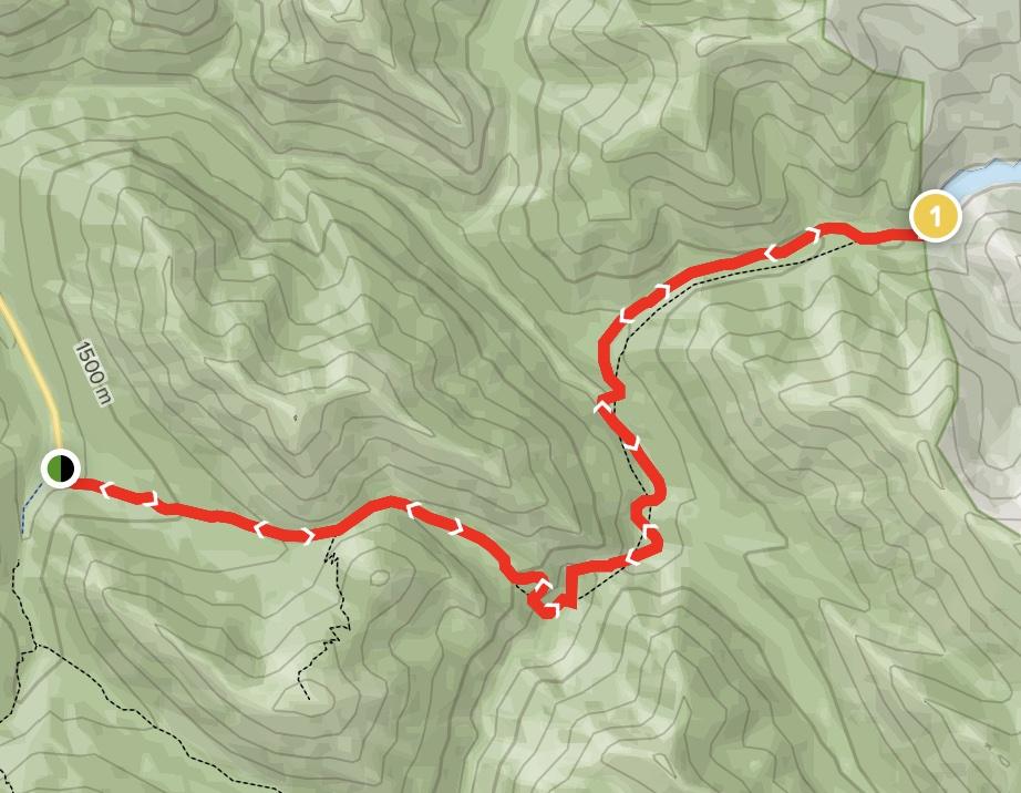 Mystery Lake via Sulphur Skyline Trail Map