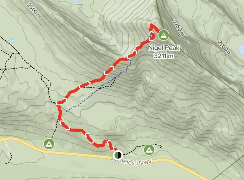 Nigel Peak Map