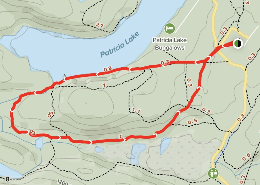 Patricia Lake Circle Map