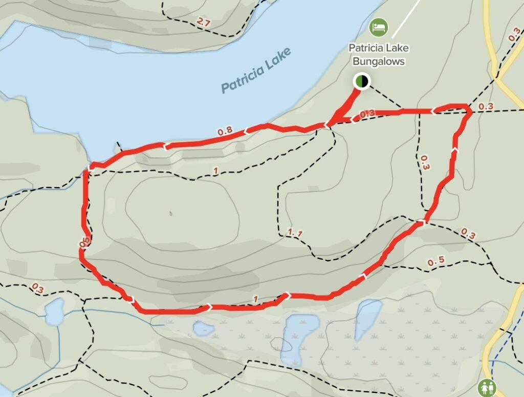 Patricia Lake South Loop Map