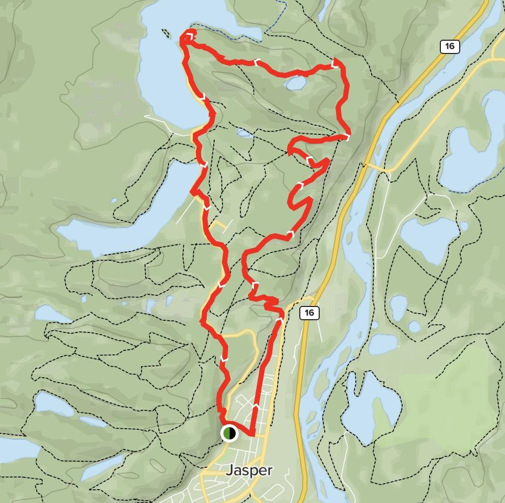 Pyramid Lake Loop via Bench Edge Map