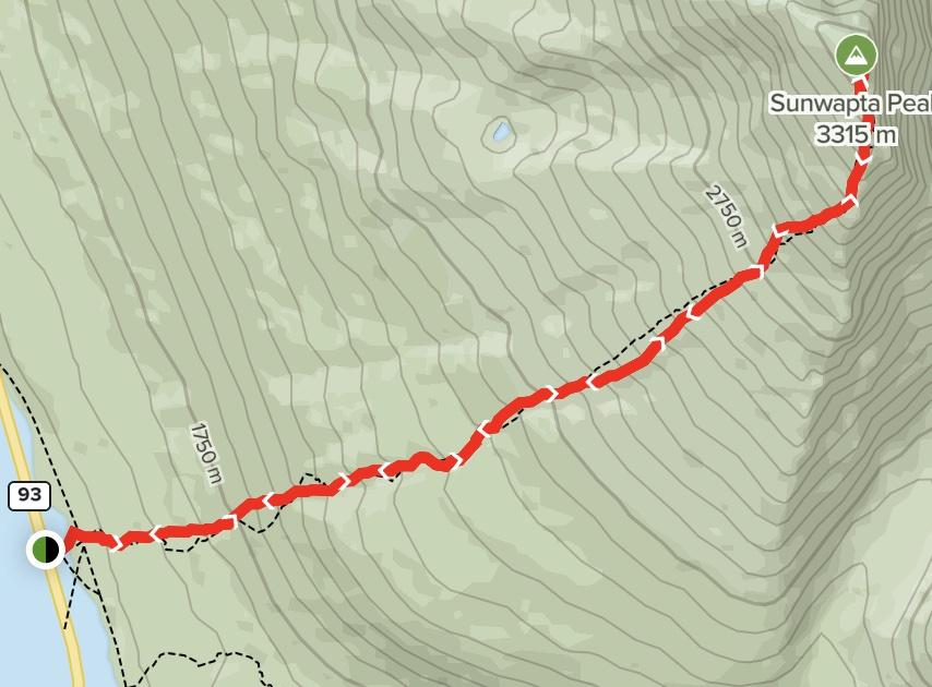 Sunwapta Peak Map