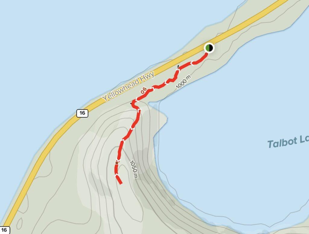 Talbot Lake Viewpoint Map