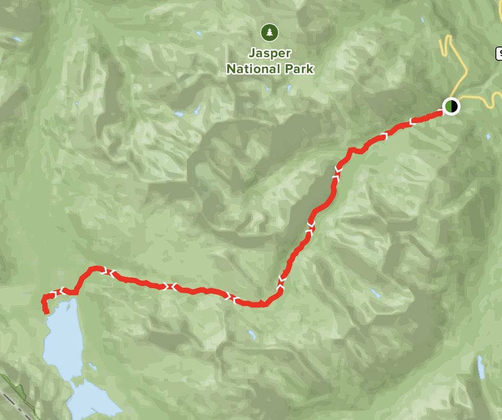 Tonquin Backcountry Lodge via Maccarib Pass Maps