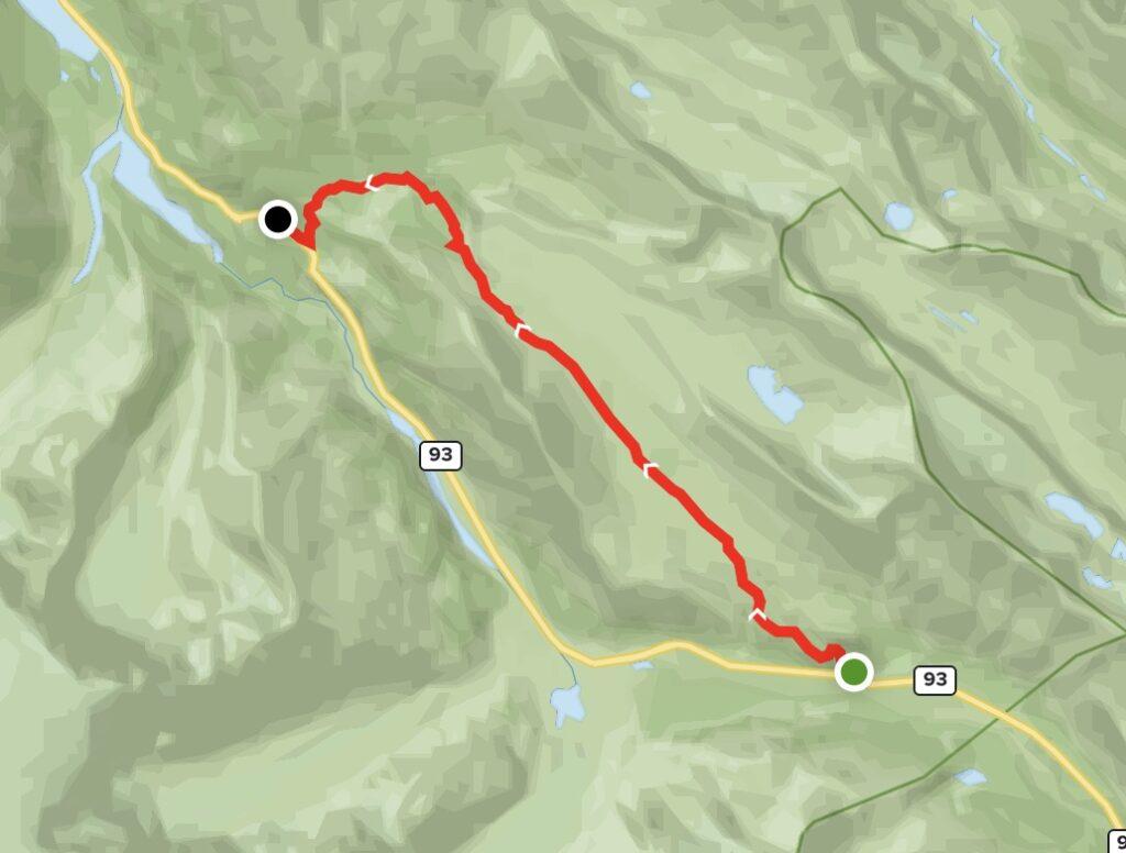 Wilcox Pass Trail Map