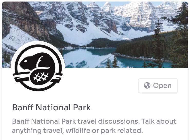 banff national park group