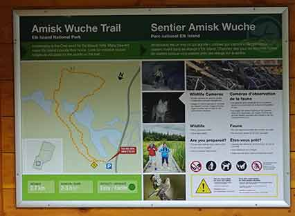 Amisk Wuche Trail Map