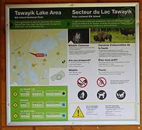 Tawayik Lake Trail Map