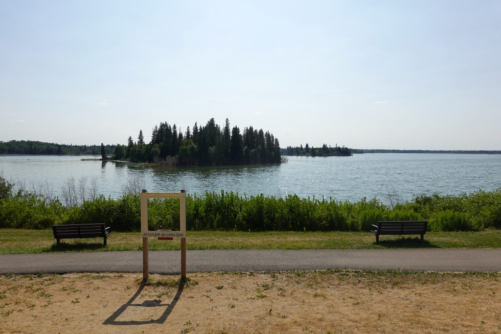 Astotin Lake Island View
