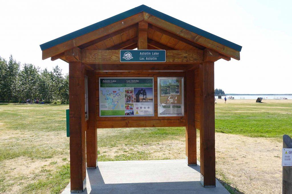 Astotin Lake Island Sign
